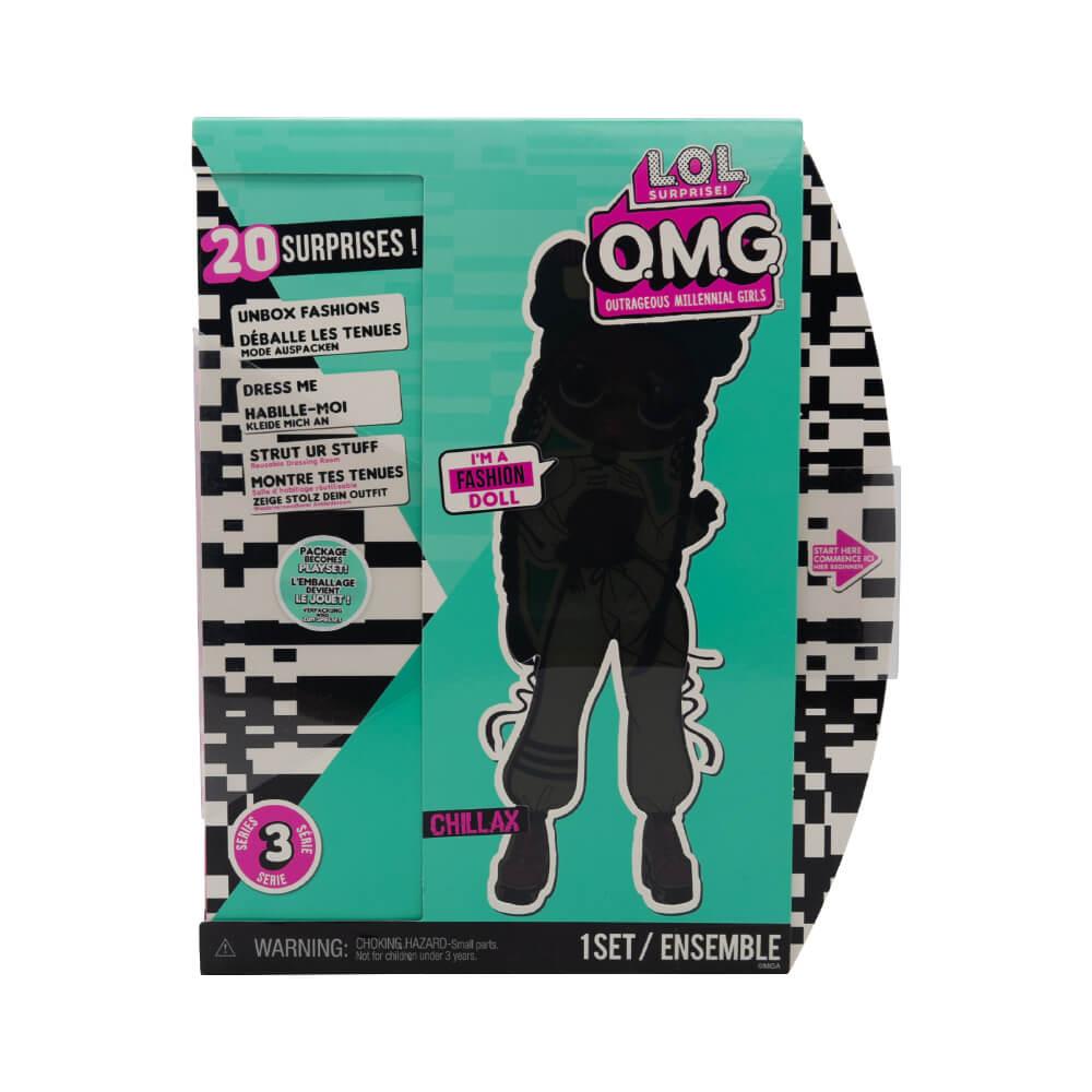 Большая кукла LOL Surprise OMG Chillax Fashion Doll с 20 сюрпризами (3 серия) - 5
